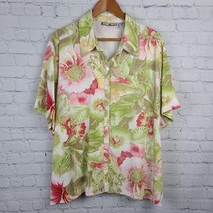 Caribbean Joe Womens Hawaiian Shirt 2X